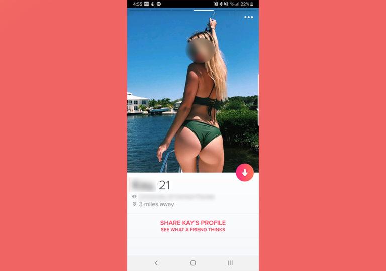 Blank Tinder Profile